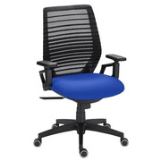 Office chair Urban - synchronous - back mesh seat blue