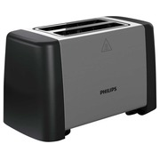 Philips Daily Collection HD4825 Metal Compact - toaster - black/stainless steel