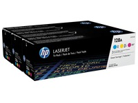 HP 128A - CF371AM pack 3 toners couleurs