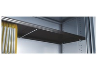 Supplementary shelf black for tambour cabinet with NF-certificate