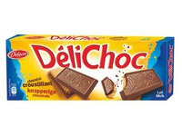 Pack of 150 g biscuits Delichoc Delacre milk chocolate