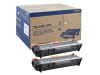 Brother TN3380 2PK - pack de 2 - noir - originale - cartouche de toner (TN3380TWIN)