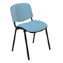 Classic conference chair with black legs
