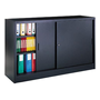 Sliding door cabinet H 105 x W 180 cm metal high volume