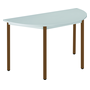 Classic half round multiform table grey