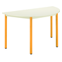Half round multiform table beige