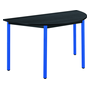 Classic half round multiform table black