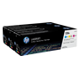 HP 128A, pack 3 toners couleurs